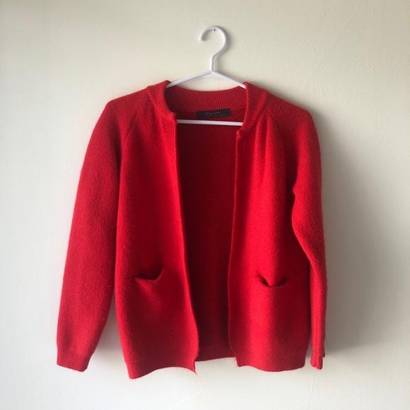 Varsity Vintage Style Red Cardigan